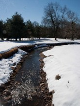 Creek in snow