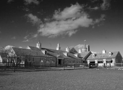 Dixon Farm in black and white